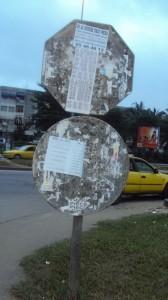 Panneau de signalisation- illisible crédit photo: EDED